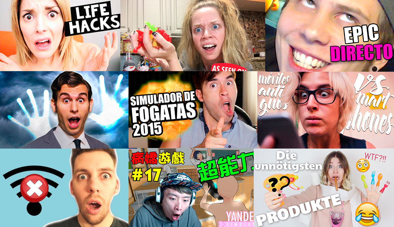 Youtubers Thumbfaces - vaya caretos, majetes