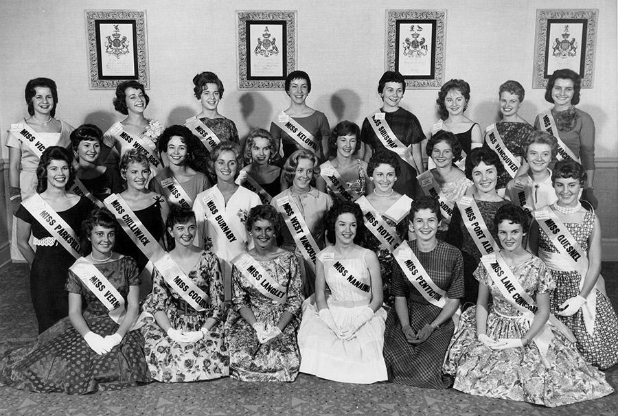 Concurso de belleza, 1960 (CC) City of Vancouver Archives @ Flickr