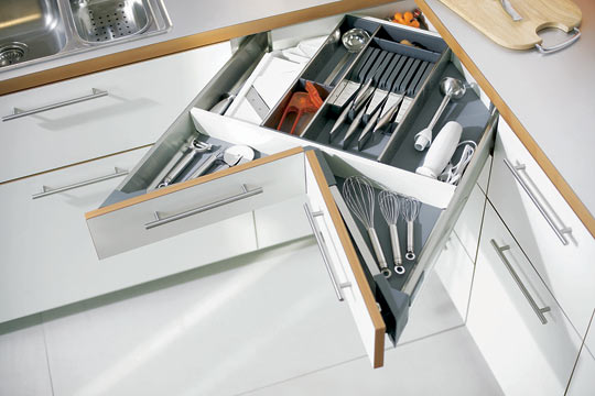 Cool Corner Drawer Kitchen Design