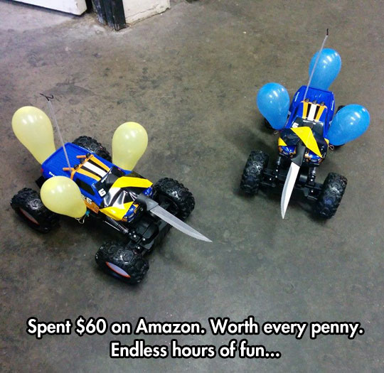 Cool-Remote-Controlled-Cars-Knife-Balloons