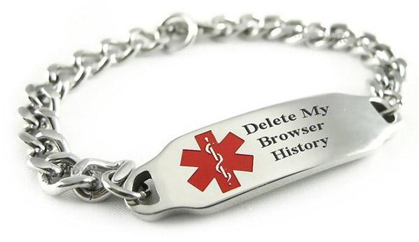 «Borra mi historial del navegador»