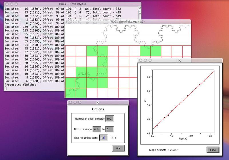 Calculadora de Dimensión Fractal / FDC