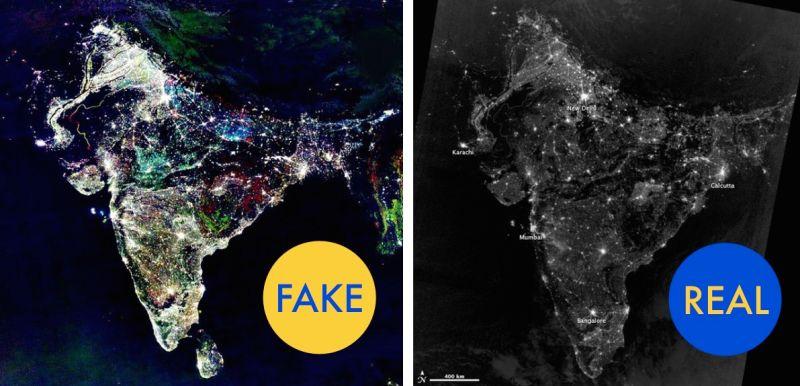 ¿India por la noche? FAKE