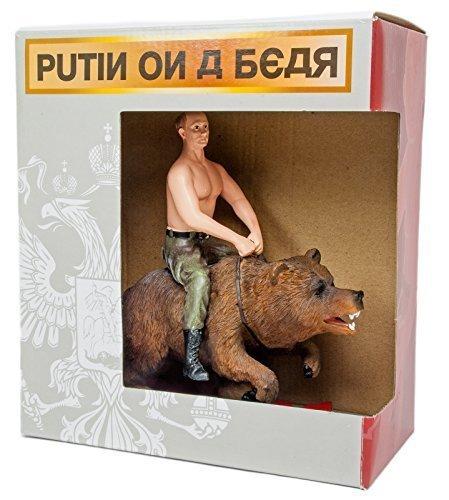 Putin cabalgando oso