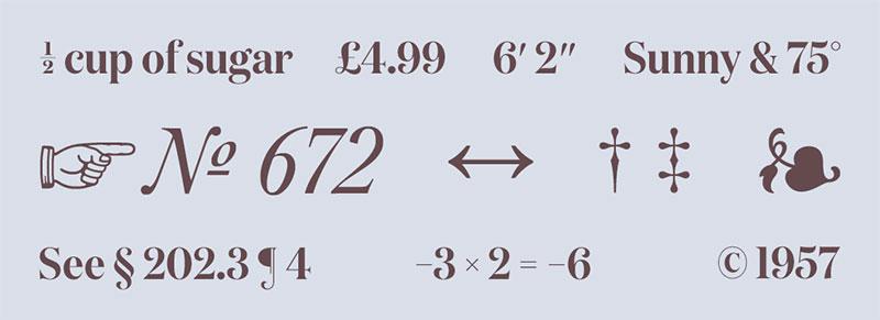 Useful typographic characters