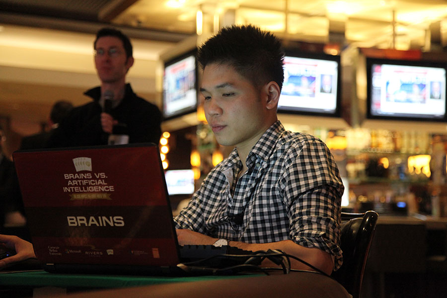 Foto: Dong Kim en el Rivers Casino / Carnegie Mellon University