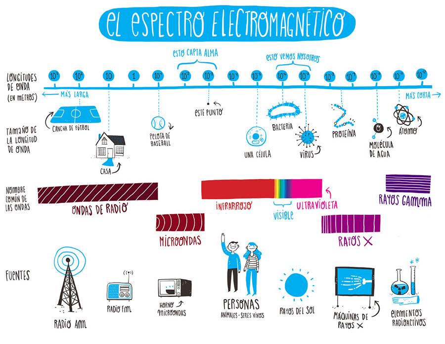 El espectro electromagnético, versión «para niños