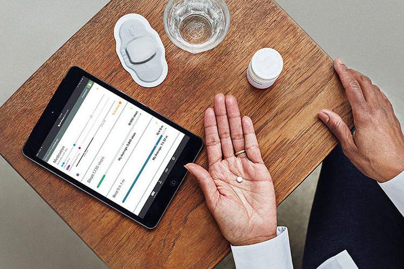 Píldoras, sensor y tableta