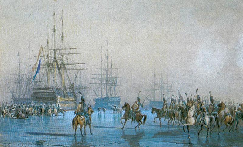 La captura de la flota por Léon Morel-Fatio