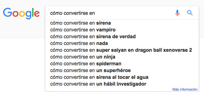 cosas más extrañas buscadas en Google