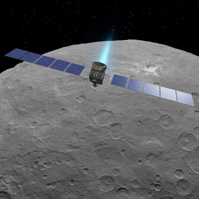 Dawn en órbita alrededor de Ceres