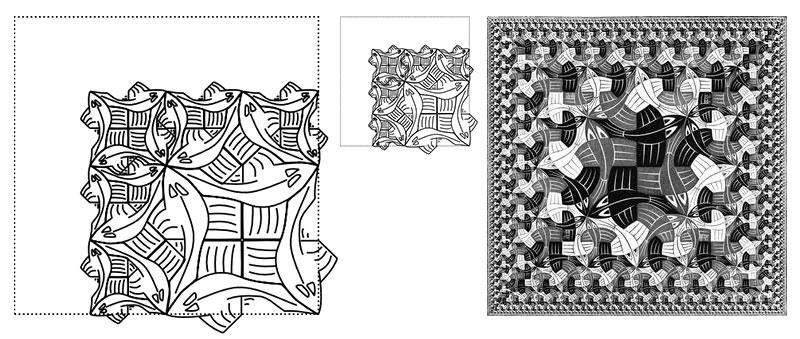 MC Escher / Santini / Limite Cuadrado