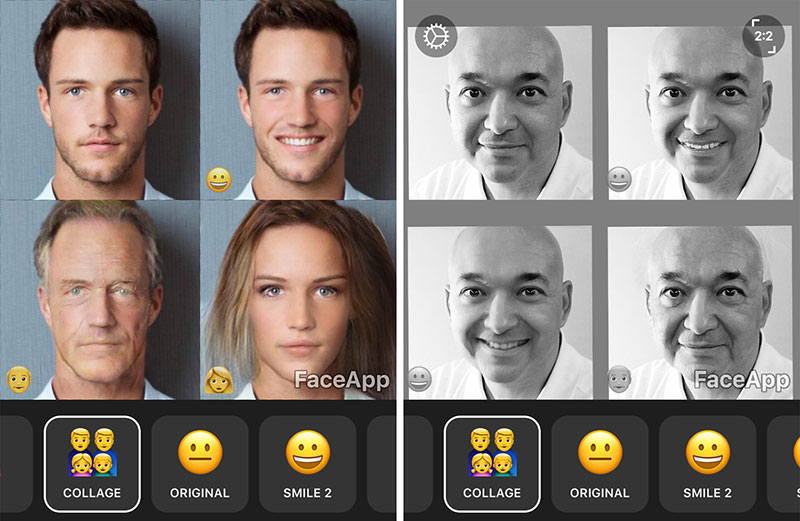 FaceApp demos