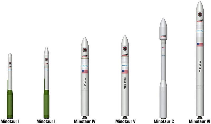 La familia de cohetes Minotaur