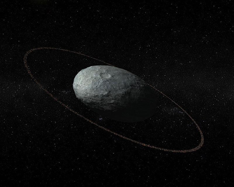 Haumea con su anillo