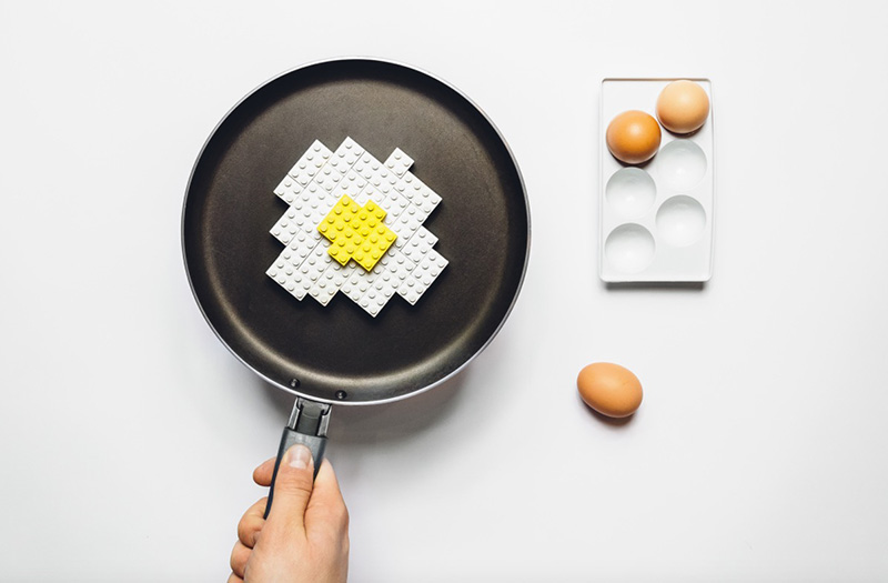Objetos cotidianos convertidos en Lego