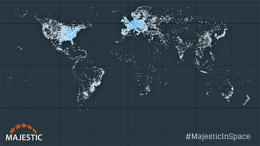 Majestic Internet Servers from Space Dark
