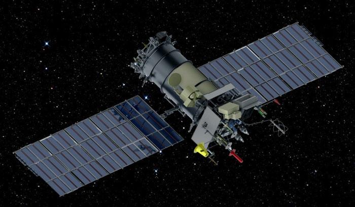 Impresión artística del Meteor-M 2-1 en órbita