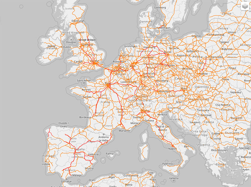 OpenRailwayMap Lines