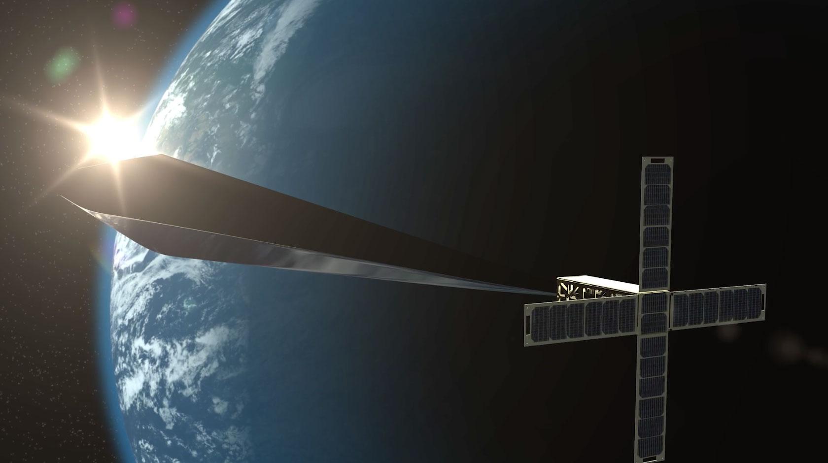 Orbital Reflector en órbita