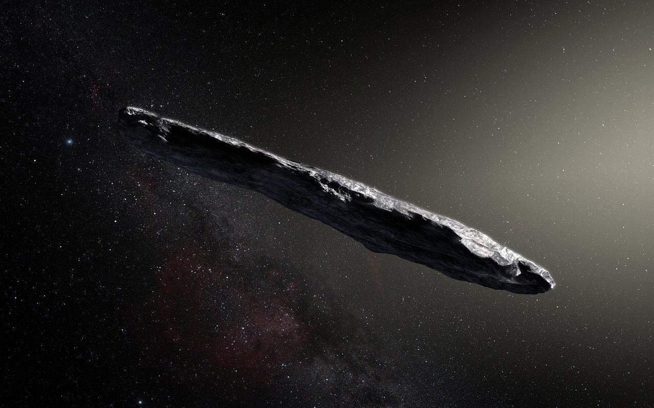 Impresión artística de 'Oumuamua - ESO/M. Kornmesser
