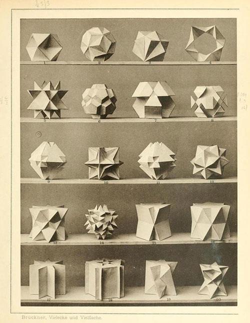 La colección de poliedros de Max Brücker
