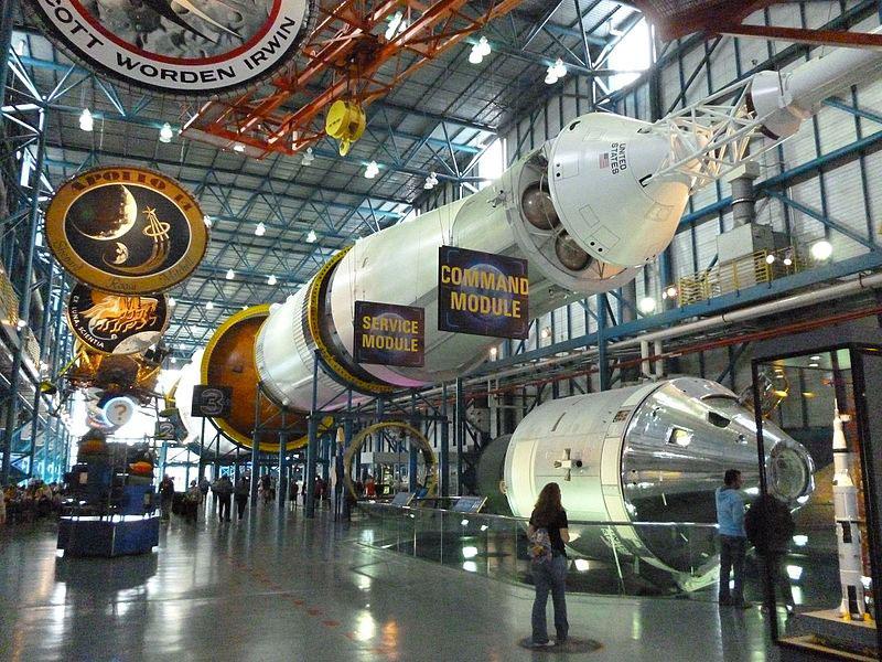 El Saturno V del centro de visitantes