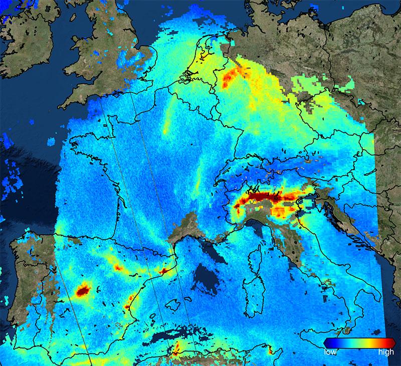 NO2 sobre Europa