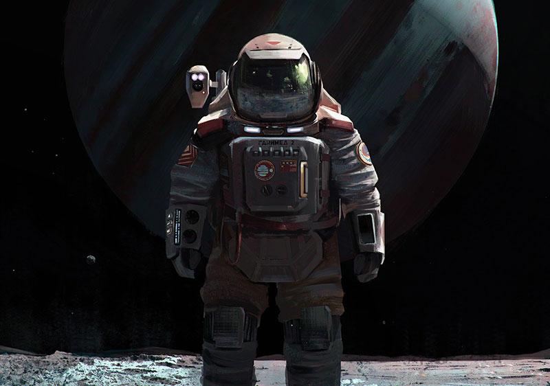 Un cosmonauta en Ganímedes