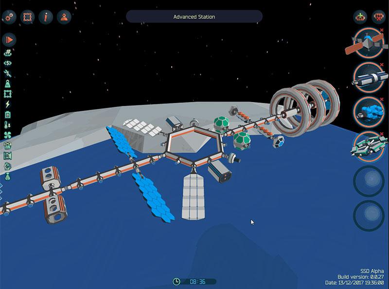 Una estación espacial diseñada en SSD