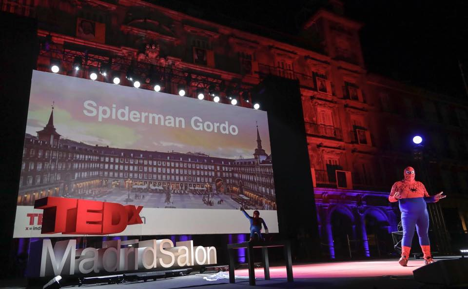 TED Spiderman Gordo Madrid 2017