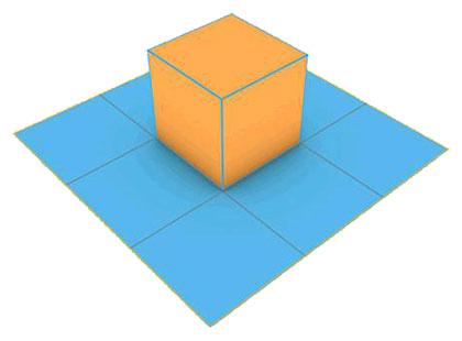 Un problema geométrico sobre el envoltorio de un cubo con papel