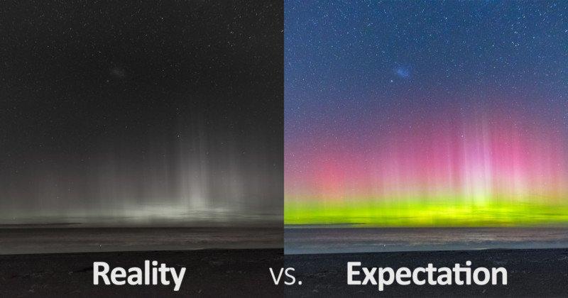 Aurora Photos: Reality vs. Expectation / PetaPixel