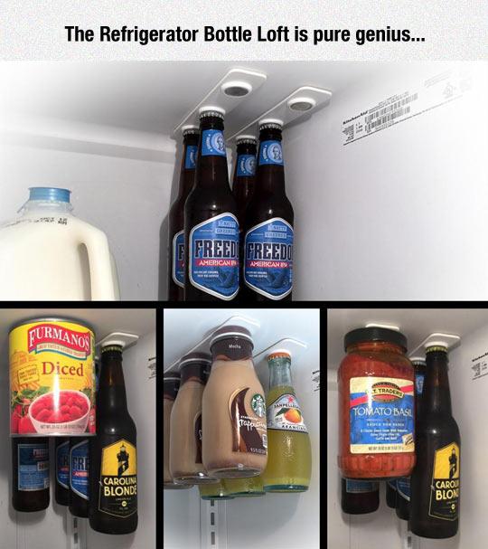 Cool fridge bottle beer magnet