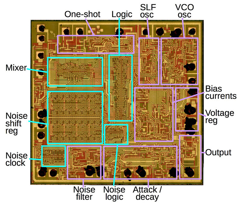 Chip de sonido de Space Invaders