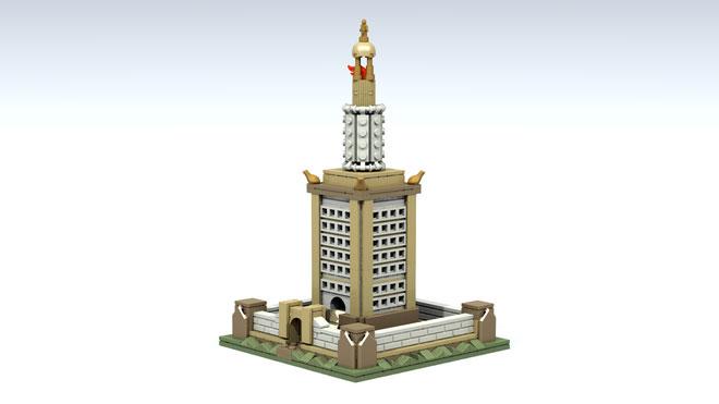 Faro de Alejandría Lego