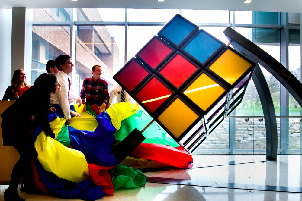 Un cubo de Rubik gigantesco / Universidad de Michigan