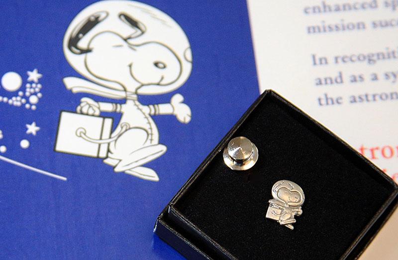 Snoopy pin award