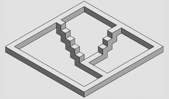 La escalera que no puede existir… ¿O sí?