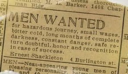 El famoso «anuncio de Shackelton» en el Times