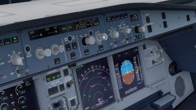 FCU de un A320