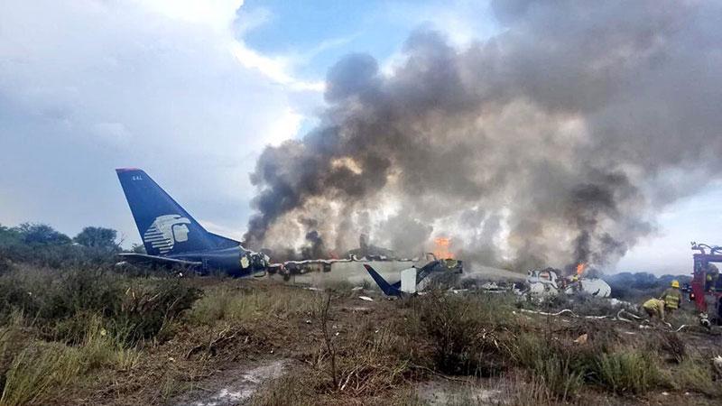 Los restos del avión siniestrado