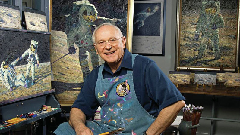 Alan Bean en su estudio