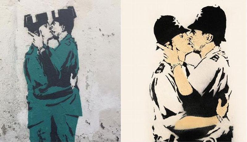 El Banksy de Canido vs el original