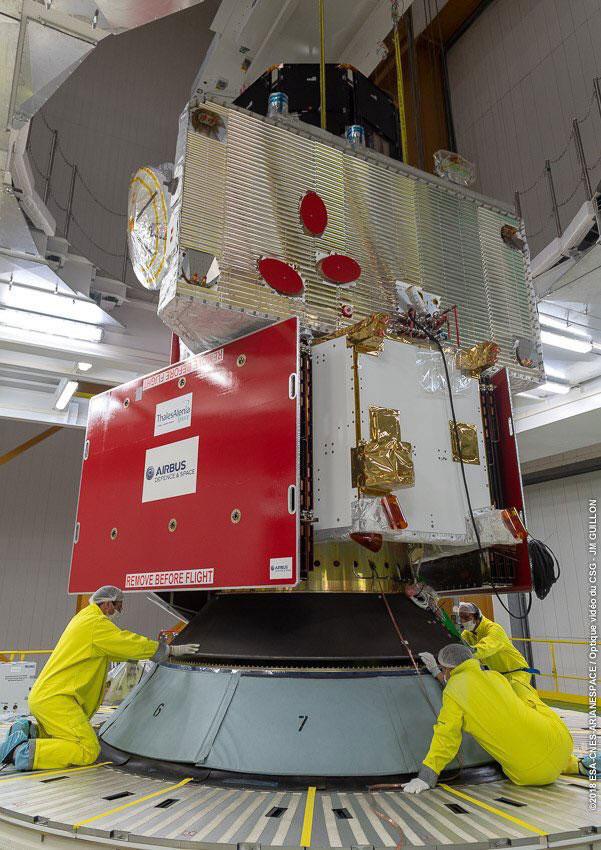 BepiColombo acoplado al Ariane 5