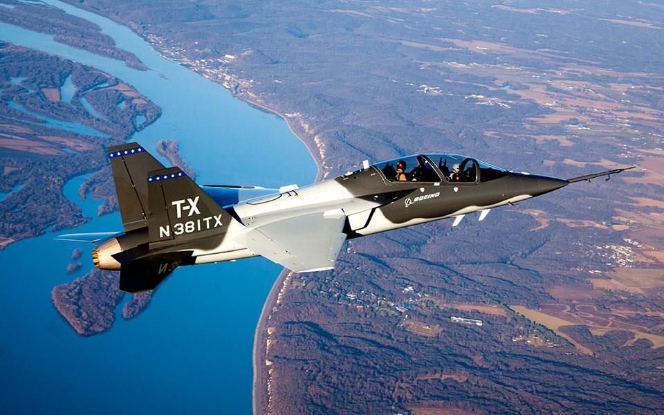 Boeing T-X en vuelo