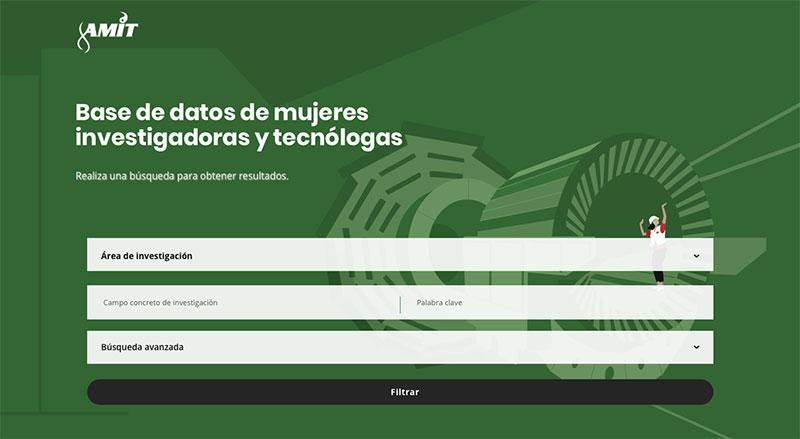 Base de datos de mujeres investigadoras y tecnólogas