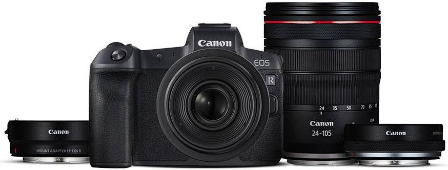 Canon R, Canon RF 24-105 y adaptadores