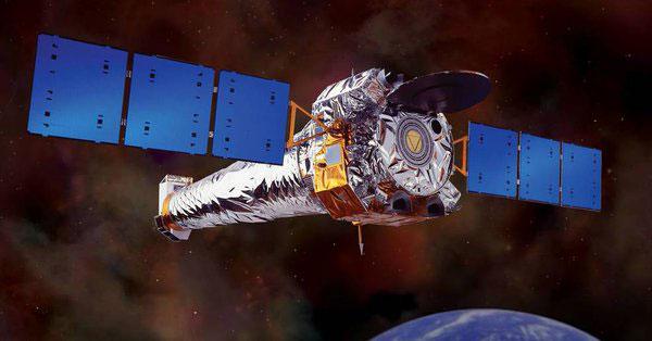 Impresión artística de Chandra en órbita