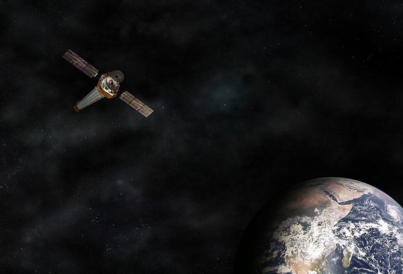 Impresión artística del Chandra en órbita